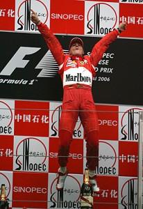 Michael Schumacher feirar ein sigur, vónandi sleppa vit øll at feira hansara næsta sigur.